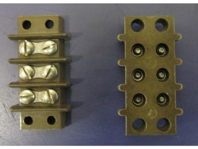 Klemmleiste 6X Schrauben immer 2 verbunden (L53mm X B30mm)
