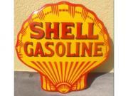 Shell-Benzin Muschel Grösse 50 x 50 cm gekrümmt