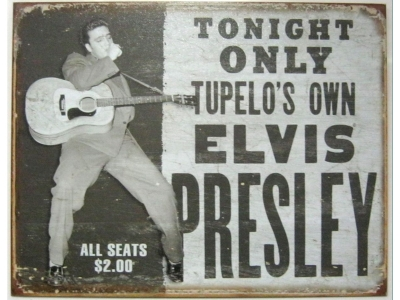 ELVIS Tupelo`s Own Blechschild 32X41cm