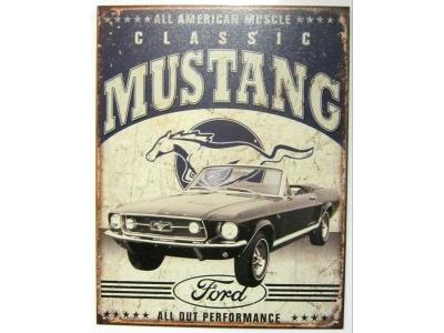Classic Mustang Ford Blechschild 32X41cm