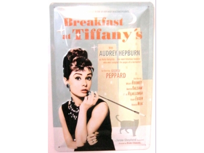 Breakfast at Tiffanys Audrey Hepburn Ride  3D Blechschild ..