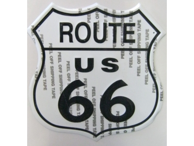 Route 66 Shield  3D Blechschild 29X29cm