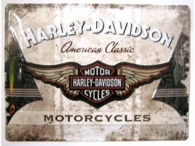 Harley-Davidson American Classic Logo  3D Blechschild 30X4..