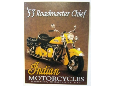 Indian Motorcycles 53 Roadmaster Chief Blechschild 41X32cm