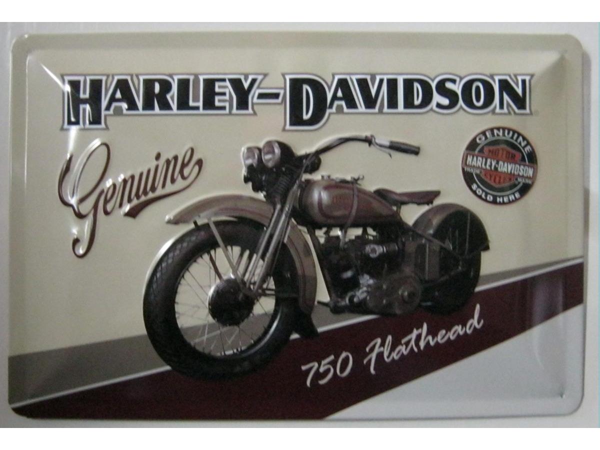 harley davidson flathead blechschild 20x30cm fahrzeuge. Black Bedroom Furniture Sets. Home Design Ideas