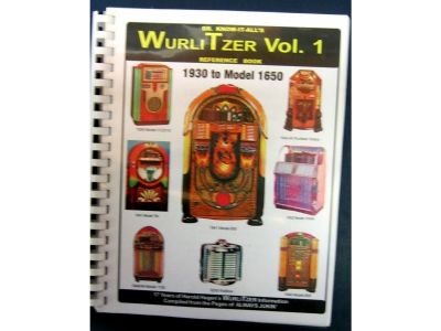 Wurlitzer Reference Book Vol. 1 1934-1953 W1650  Models Dr..