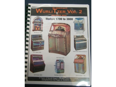 Wurlitzer Reference Book Vol. 2 1954 W1700-1974 Models