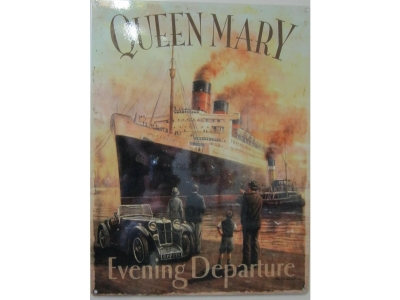 Queen Mary  Evening Departure  Blechschild  30x40cm