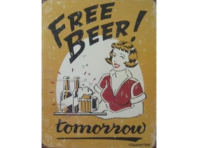 Free Beer -  Blechschild  32x41cm