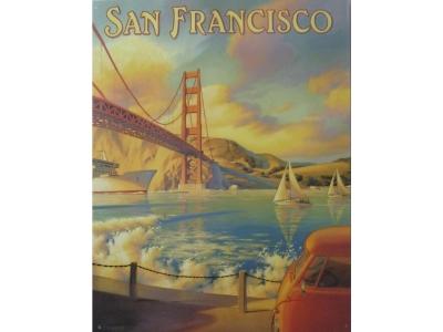 Golden Gate Bridge -  Blechschild  32x41cm