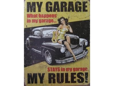 Legende - Meine Garage -  Blechschild  30x41cm