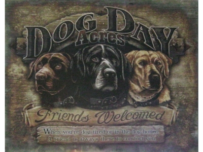 Dog Day Acres  Blechschild  32x41