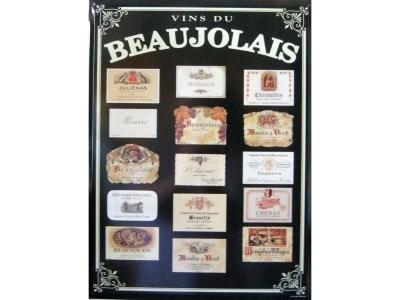 Beaujolais - Rot  Blechschild  30x41