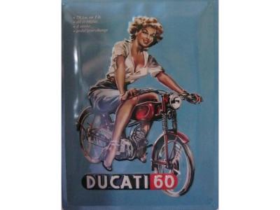 Ducati Pin Up  Blechschild  30x40