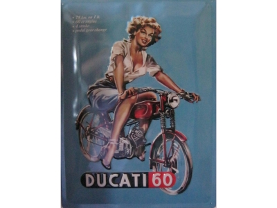 DUCATI Ducati Pin Up  Blechschild  30x40