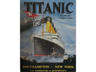 Titanic The world largest liner  Blechschild  32x41