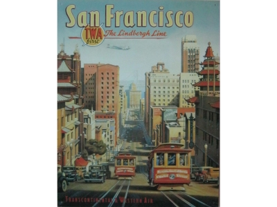 San Francisco  Blechschild 32X41cm