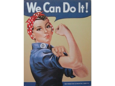 Rosie the Riveter  Blechschild 32X41cm