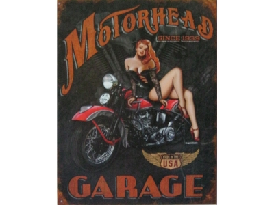 Legends - Motorhead Garage  Blechschild 30X41cm