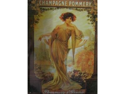 Champagne Pommery  Blechschild 30X41cm