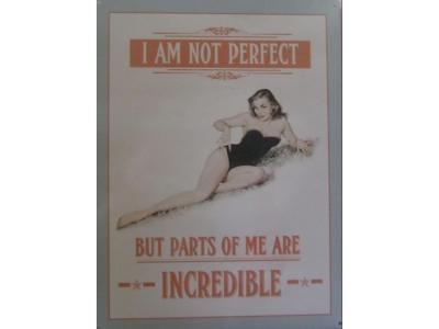 I am not perfect  Blechschild  30x41