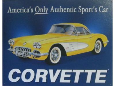 CORVETTE Americas Only  Blechschild  32x41cm