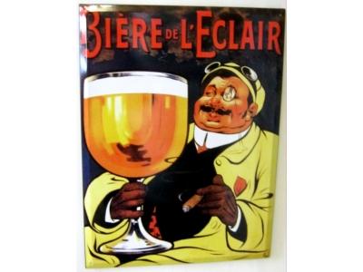 Biere de L' Éclair  Blechschild  30x41