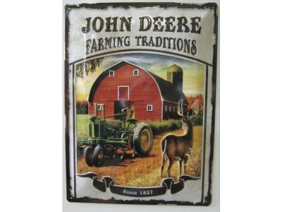 John Deere Farming Traditions Blechschild  30x40