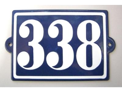 Hausnummern Grösse 13X10cm Rechteckig Flach mit kleinen Oh..