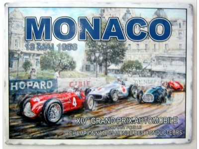 Monaco 13 Mai 1956  GRAND PRIX AUTOMOBILE Blechschild  30x41