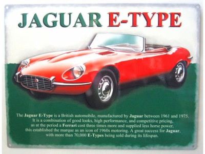 Jaguar E Type  Blechschild  30x41