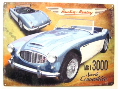 Austin Healey MKI 3000 Sports Convertible Blechschild 30X4..