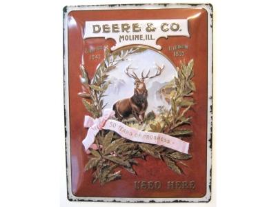 John Deere Deere & Co. Blechschild 30X40cm