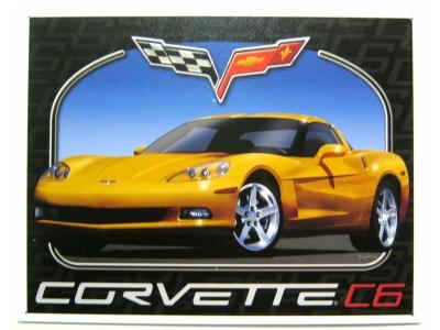 Chevrolet Chevy Corvette C6 Blechschild  32X41cm