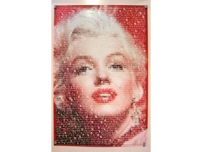 POSTER Marilyn Monroe Schrift Gepixelt Grösse 91X61cm