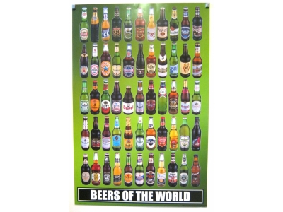 POSTER BEERS OF THE WORLD  Größe 61 X 92 cm