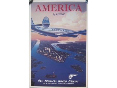 Pan American Clipper  Kunstdruck  Größe 22 x 33 cm