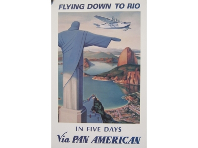Pan American Flying Down to Rio 1930 Kunstdruck  Größe 22 ..
