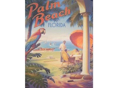 Palm Beach Florida Kunstdruck Größe 46 x 61 cm