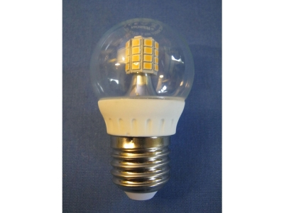 LED Tropfenlampe G45 3,5W LxB 75x45mm klar dimmbar warmwei..