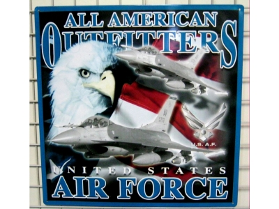 US AIR FORCE Blechschild USA Import  36 x 36 cm