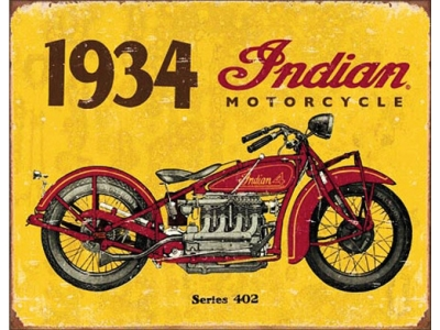 INDIAN 1934 Blechschild 41 x 32 cm