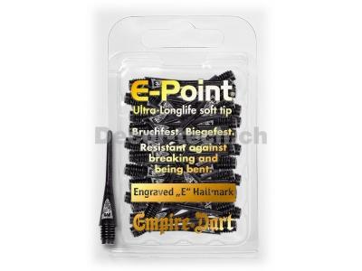 E-Point-Spitzen 2BA lang Schwarz (30 Stück)