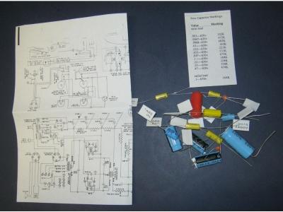 Rock-ola Capacitor kit for Model O amplifier Models 1422 1..