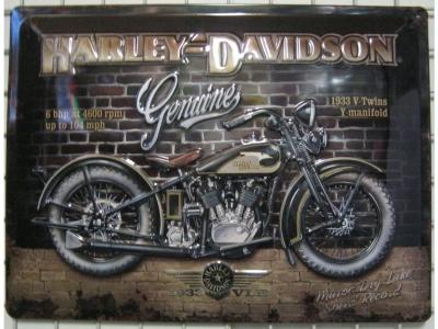 Blechschild Harley-Davidson Brick Wall Größe 30 x 40 cm