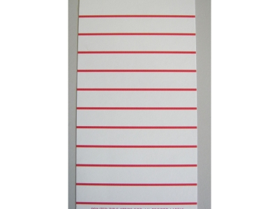Title Strips 78Rpm White/Red Blue Titel Beschriftungen nic..