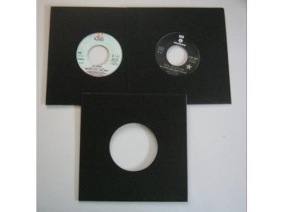Single Cover Karton schwarz 20 Stück Für Ihre Raritäten