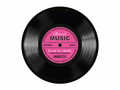 Mousepad - Record Music-Pink
