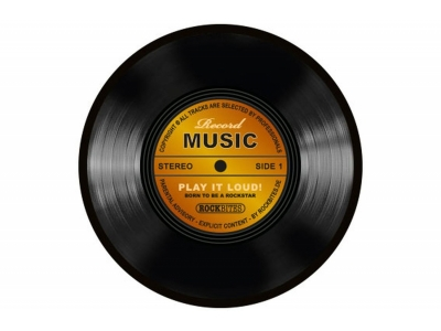 Mousepad - Record Music-Gold