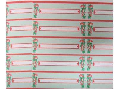 Title Strips Chrismas Titel Beschriftungen perforiert 10 S..